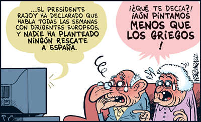 Noticias criminología. Humor sobre el rescate de Grecia. Marisol Collazos Soto