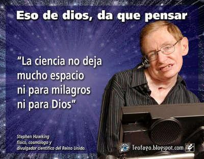 Noticias Criminología. Stephen Hawking y dios. Marisol Collazos Soto