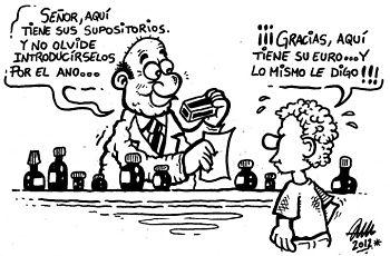 Noticias criminología. Humor con el euro por receta. Marisol Collazos Soto
