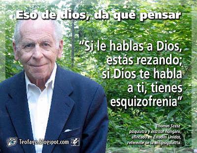 Noticias criminología. Si te habla dios, tienes esquizofrenia. Marisol Collazos Soto