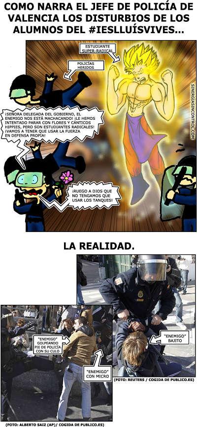Noticias Criminología. Así ve la Policía Nacional en Valencia los disturbios. Marisol Collazos Soto