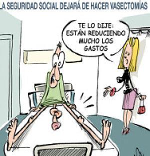 Noticias criminología. Nueva técnica de vasectomía gracias a los recortes del Partido Popular. Marisol Collazos Soto