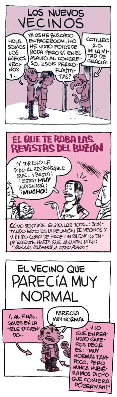 Noticias criminología. Humor con los nuevos vecinos. Marisol Collazos Soto