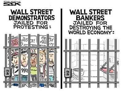 Noticias Criminología. Humor indignados Wall Stree. Marisol Collazos Soto