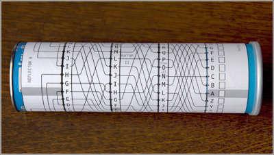 Actualidad Informática. Máquina Enigma en papel. Rafael Barzanallana