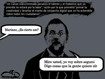 Actualidad Informática. Rajoy suprime el canon LPI, pero va a los prresupuestos del estado. Rafael Barzanallana