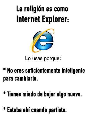 La religión es como Internet Explorer. Rafael Barzanallana