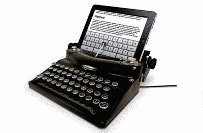 Actualidad Informática. Fusión de tableta y máquina de escribir manual. Rafael Barzanallana
