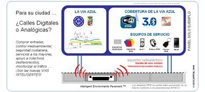 Actualidad Informática. WIFI en el suelo de la Puerta del Sol de Madrid. Rafael Barzanallana