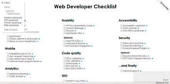 Actualidad Informática. Listas de procedimientos para desarrolladores de sitios web. Rafael Barzanallana. UMU