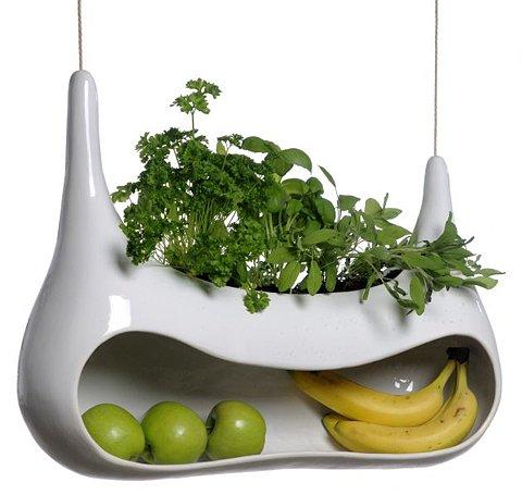 Toca Comer. Macetero y frutero de diseño. Marisol Collazos Soto