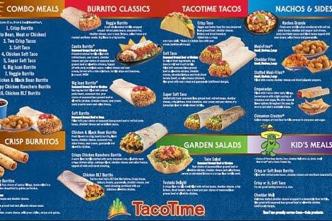 Toca comer. Menú Taco Time. Marisol Collazos soto